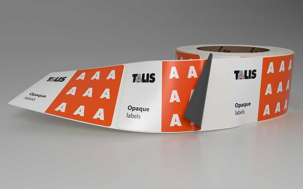 sticker roll opaque label