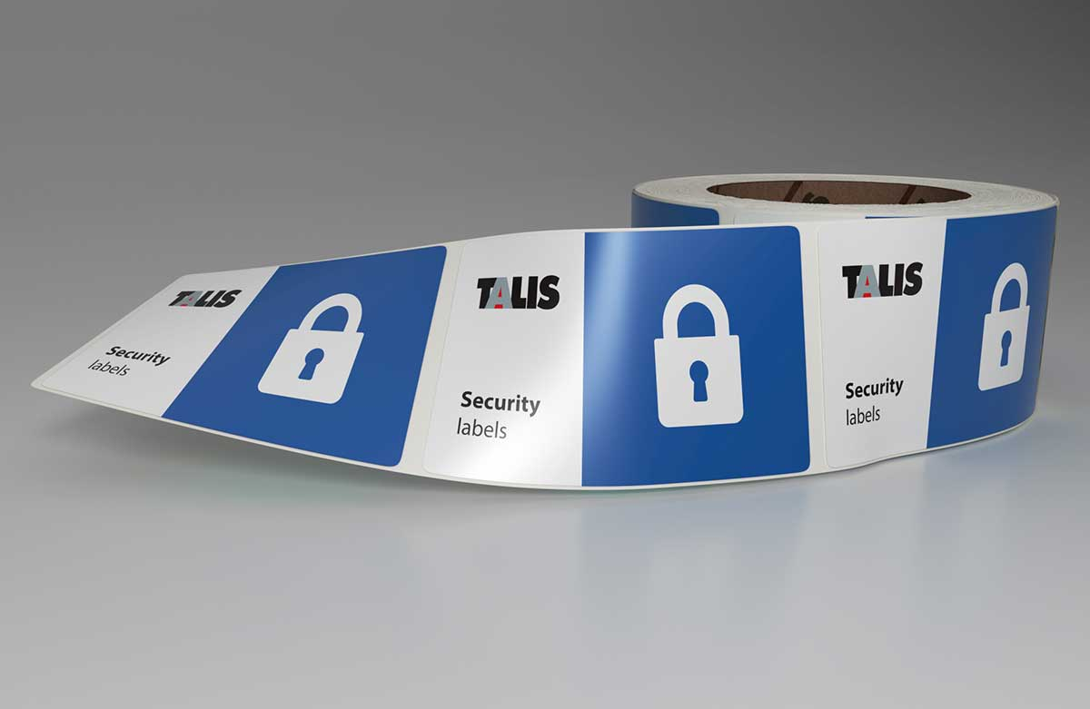 sticker roll security labels