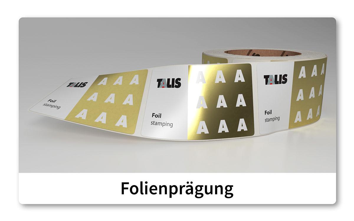 talis etikette goldfoil