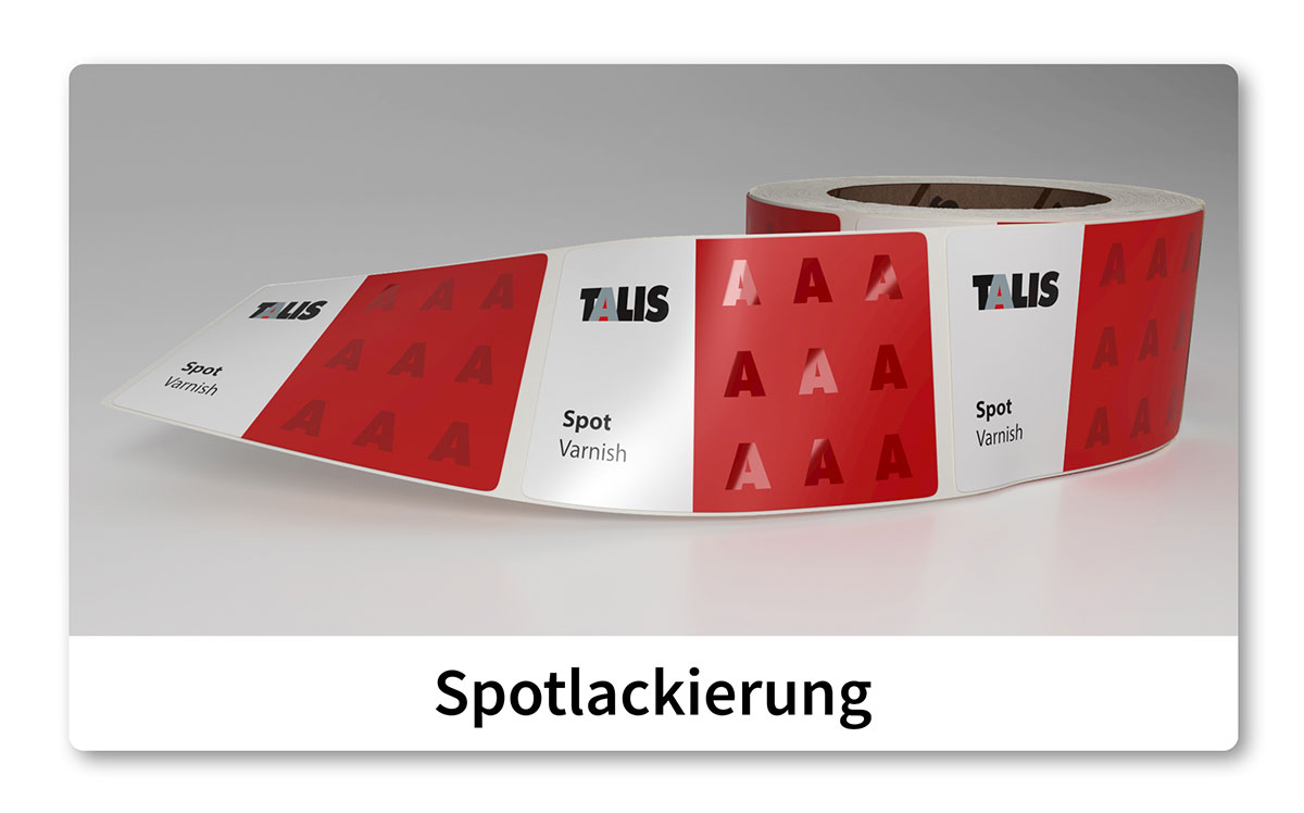 talis etikette spot varnish